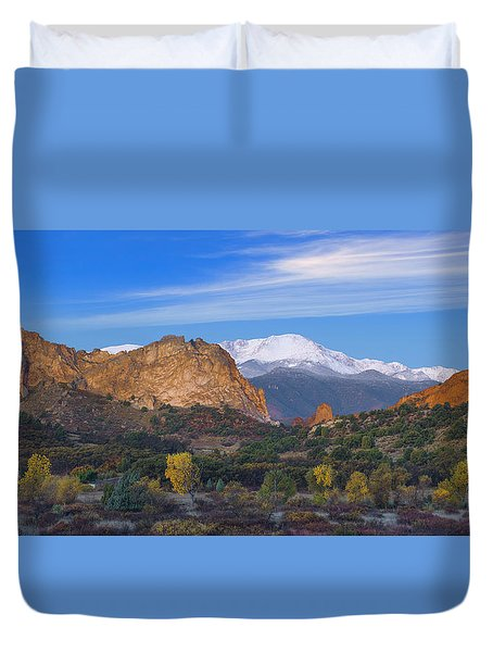 Fall Panoramic Duvet Cover
