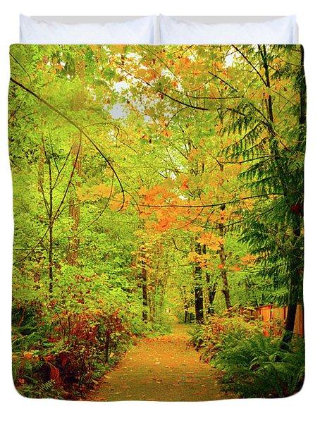 Fall Path Too Duvet Cover