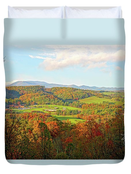 Fall Porch View Duvet Cover