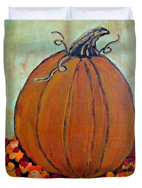 Fall Pumpkin Duvet Cover