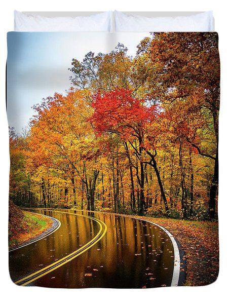 Fall Rain Duvet Cover