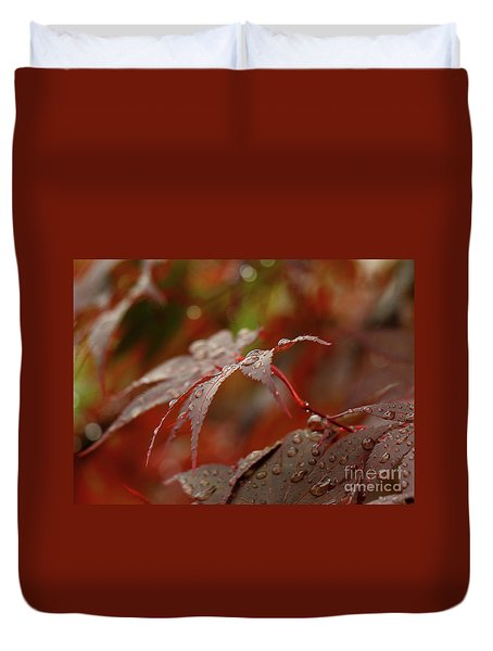 Fall Rain Duvet Cover