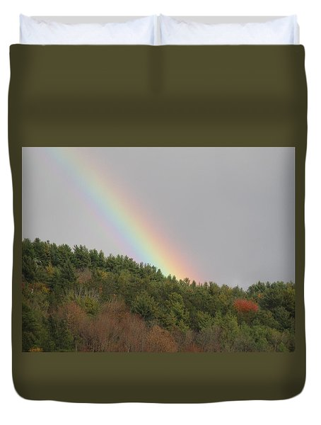 Fall Rainbow Duvet Cover