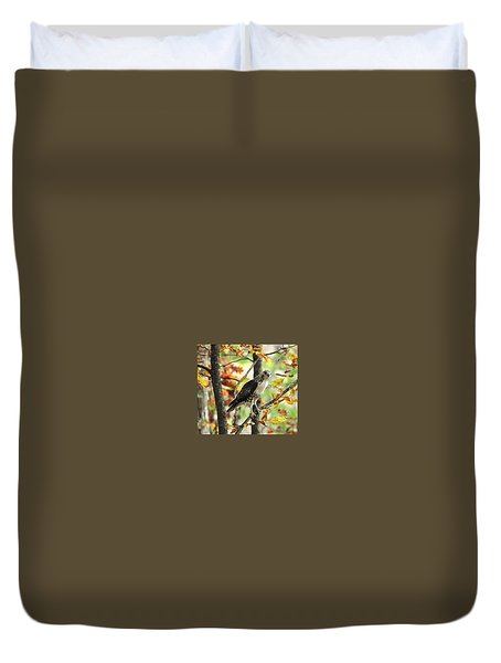 Fall Red-tailed Hawk Duvet Cover