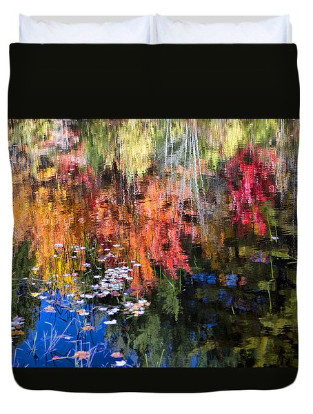 Fall Reflection  Duvet Cover by Betty  Pauwels