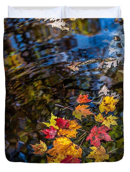 Fall Reflection - Pisgah National Forest Duvet Cover