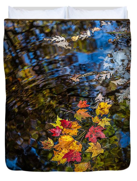 Fall Reflection - Pisgah National Forest Duvet Cover