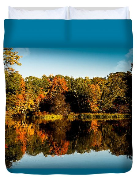 Fall Reflections Duvet Cover
