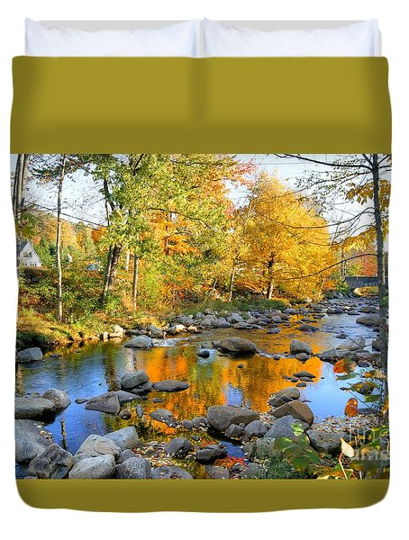 Fall Reflections In Jackson Duvet Cover