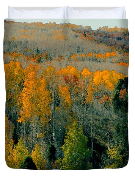 Fall Ridge Duvet Cover by David Lee Thompson