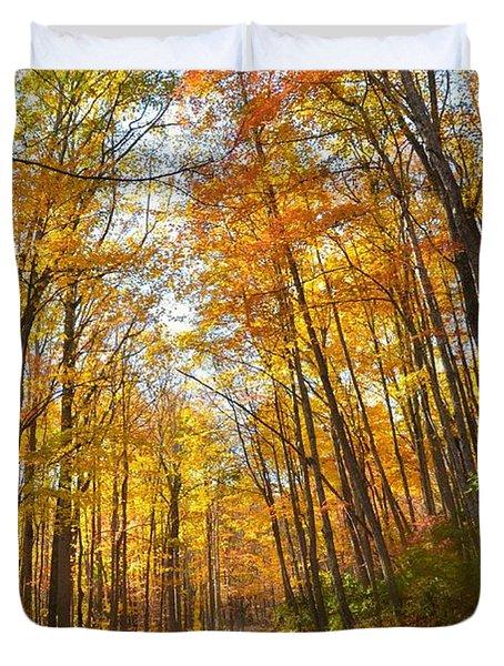 Fall Road Duvet Cover