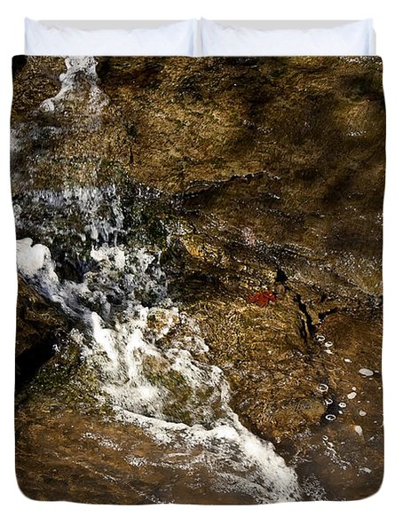 Duvet Cover featuring the photograph Fall Runoff At Broadwater Falls by Michael Dougherty
