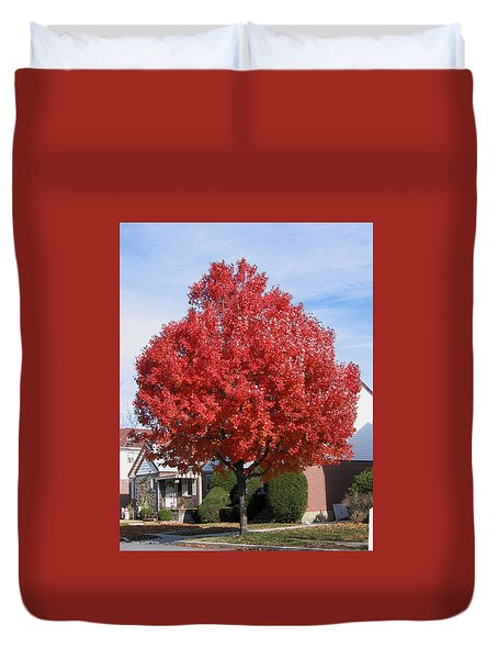 Fall Season Duvet Cover by Suhas Tavkar