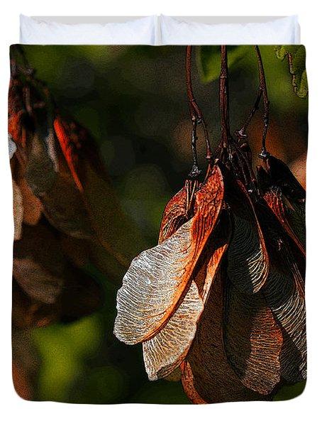 Fall Seeds. Duvet Cover