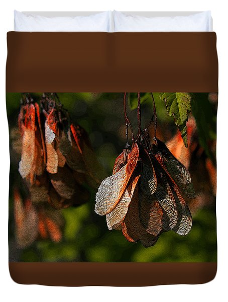 Fall Seeds. Duvet Cover