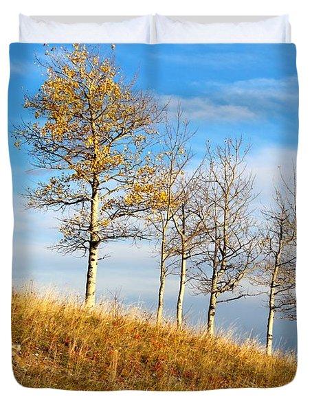 Fall Sentinels Duvet Cover