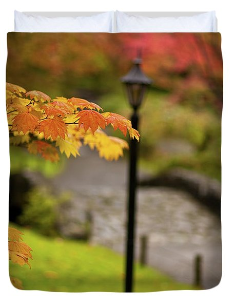 Fall Serenity Duvet Cover by Mike Reid