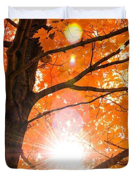 Fall Shine Duvet Cover