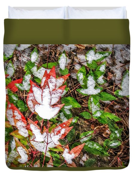 Fall Snow Duvet Cover