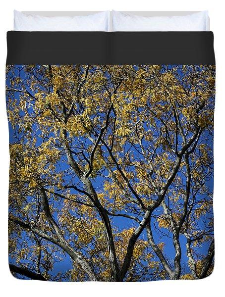Duvet Cover featuring the photograph Fall Splendor And Glory by Deborah  Crew-Johnson
