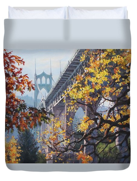 Fall St Johns Duvet Cover by Karen Ilari