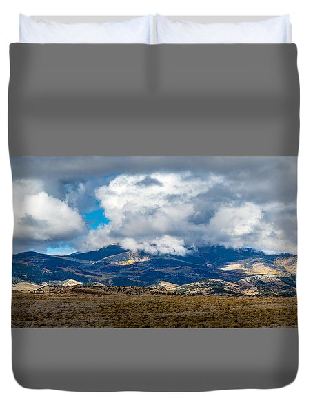 Fall Storm Clearing Off Pintada Mountain Duvet Cover