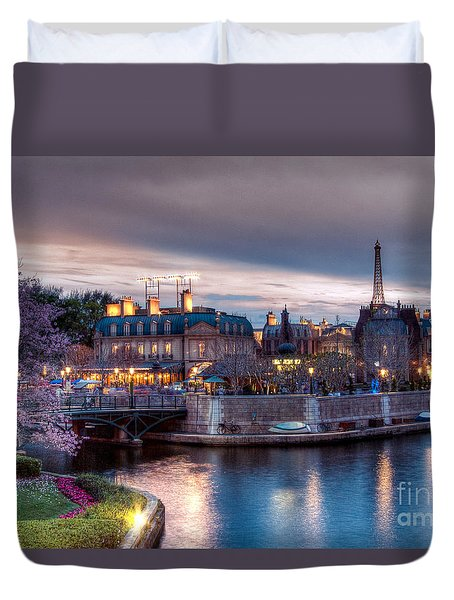 Fall Sunset Of France Duvet Cover