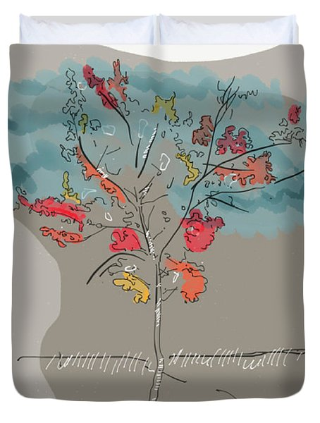 Fall To Peaces Duvet Cover
