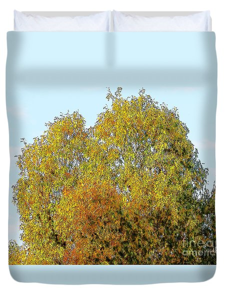 Fall Tree Duvet Cover by Craig Walters