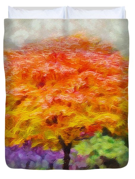 Fall Tree Duvet Cover by Greg Collins