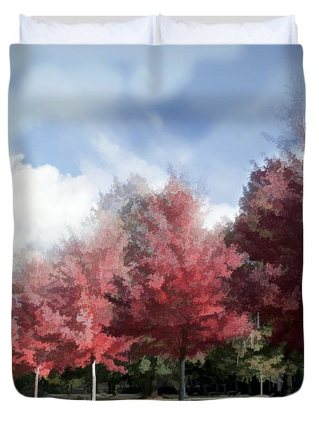 Fall Trees In Tennessee Duvet Cover