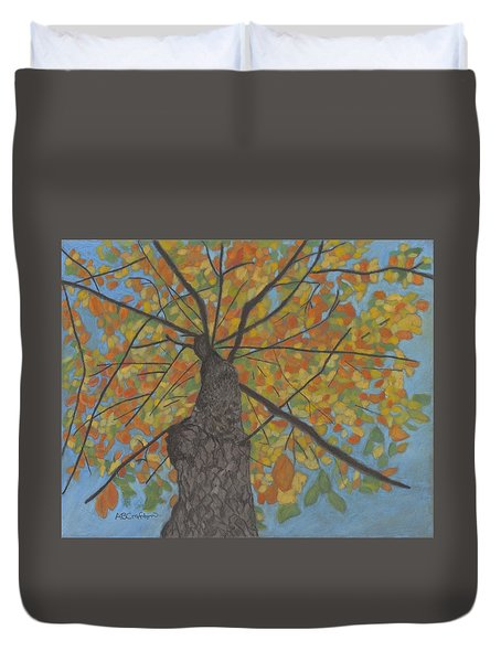 Fall Up Duvet Cover by Arlene Crafton