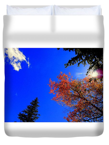Fall Up Duvet Cover