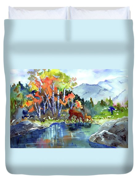 Fall, Upon Us Duvet Cover