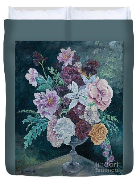 Fall Vase Duvet Cover by Jana Goode