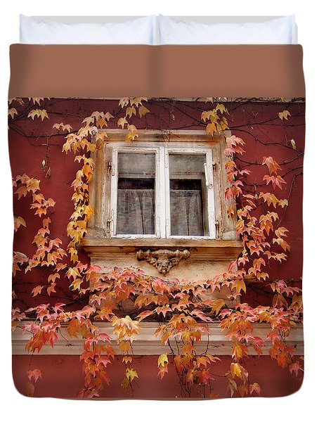 Fall Window,prague Duvet Cover