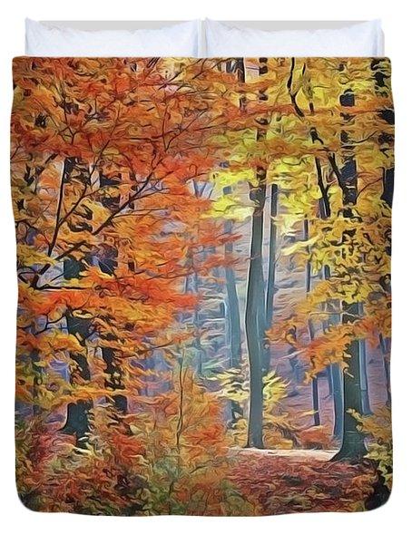 Fall Woods Duvet Cover