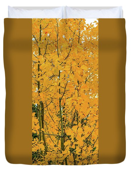Fall Yellow Duvet Cover