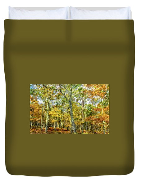 Fall Yellow Duvet Cover
