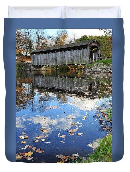 Fallasburg Covered Bridge 16 Duvet Cover