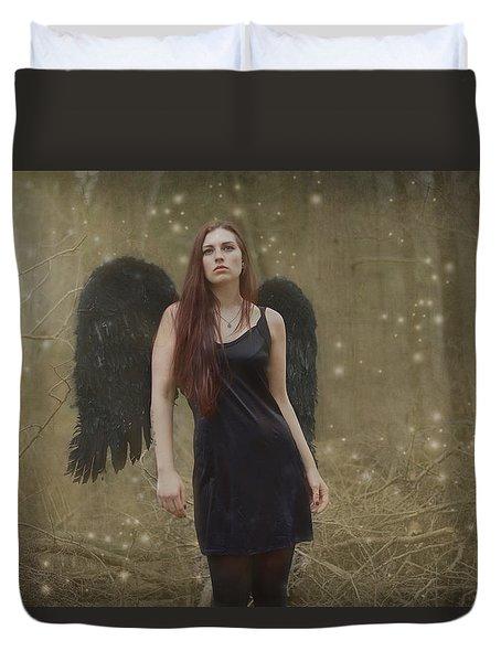 Fallen Angel Duvet Cover by Brian Hughes