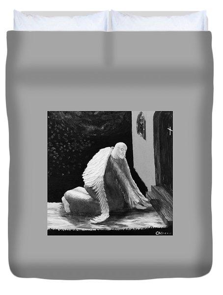 Fallen Angel Noir  Duvet Cover
