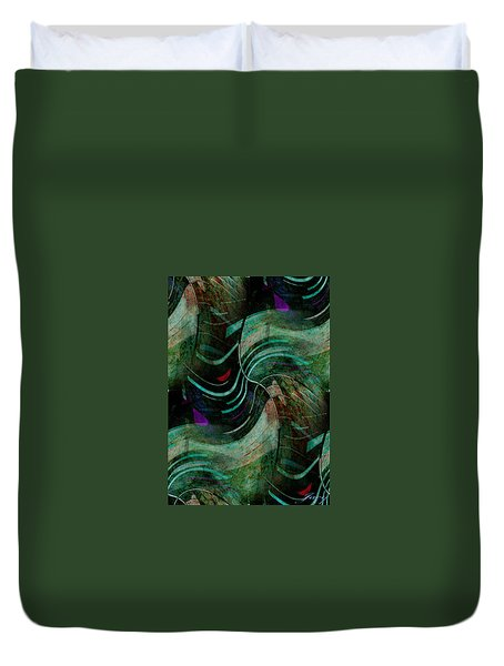 Duvet Cover featuring the digital art Fallen Angle by Sheila Mcdonald