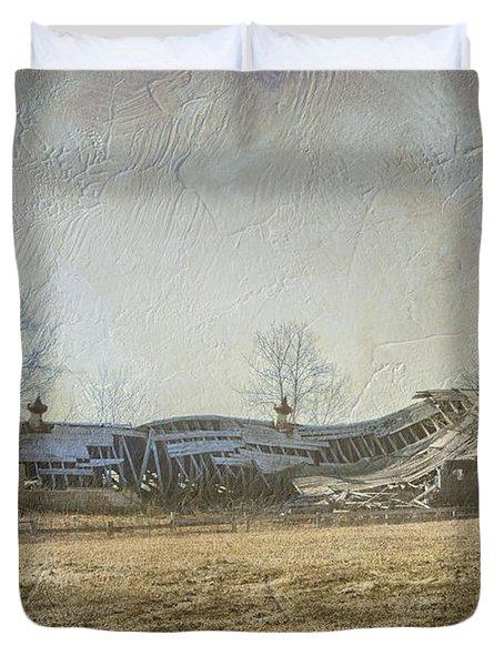 Fallen Barn  Duvet Cover