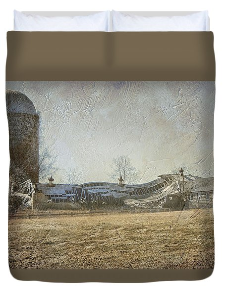 Fallen Barn  Duvet Cover by Betty Pauwels