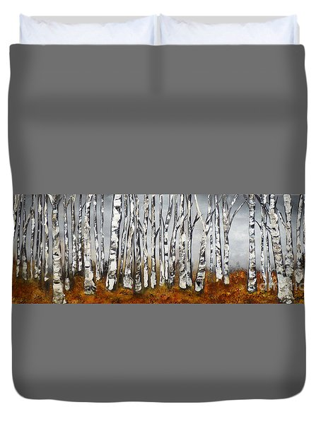 Duvet Cover featuring the painting Fallen by Chad Berglund