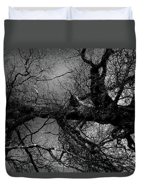 Fallen Dark Wood Forest Duvet Cover
