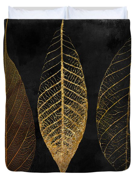 Fallen Gold II Autumn Leaves Duvet Cover by Mindy Sommers