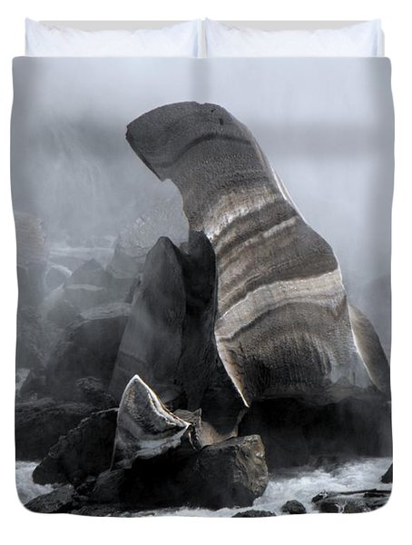 Fallen Ice Duvet Cover