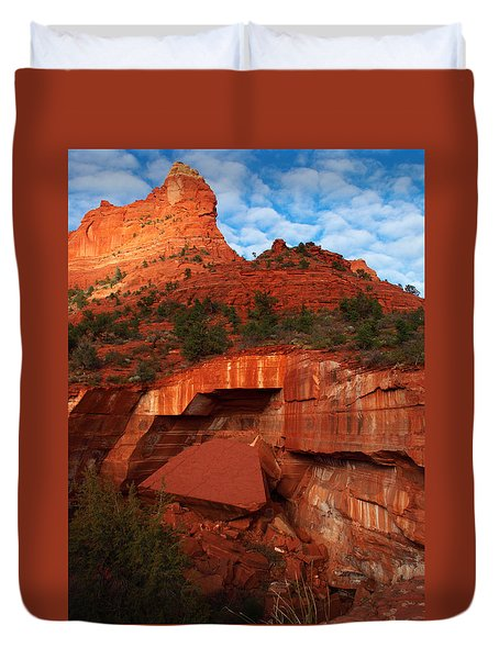 Duvet Cover featuring the photograph Fallen by James Peterson